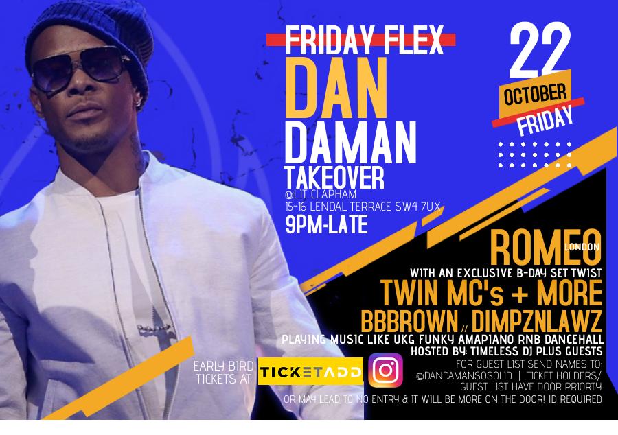 Lit Fridays Dandaman's Take over